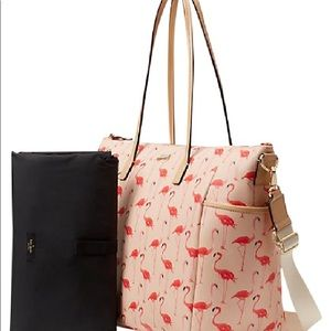 Brand New Kate Spade Flamingo Diaper Bag